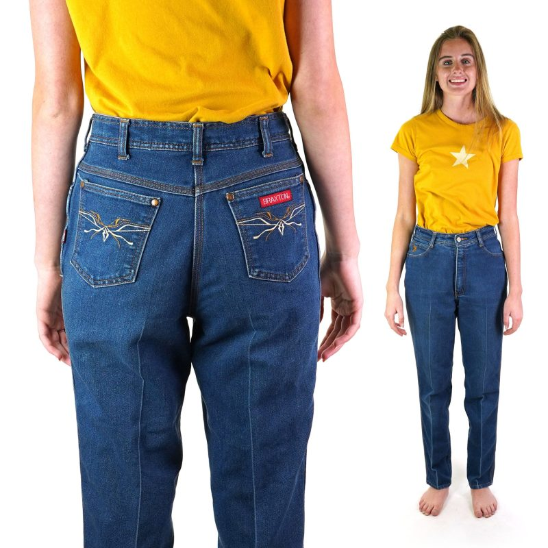 80s High Rise Tapered Jeans