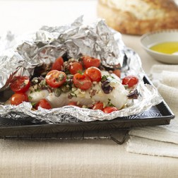 Sea Bass Baked In Foil With Pesto The Good Fish Company