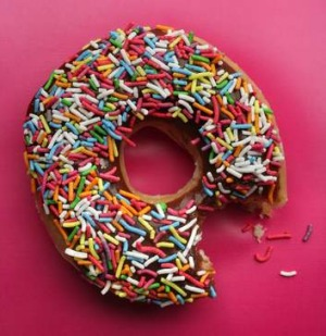 The average doughnut will set you back at least 400 calories and 20 grams of total fat.