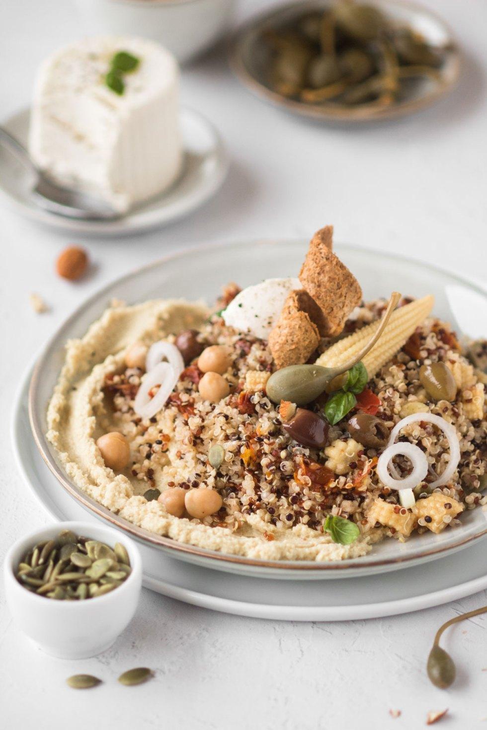 insalata di quinoa tricolore