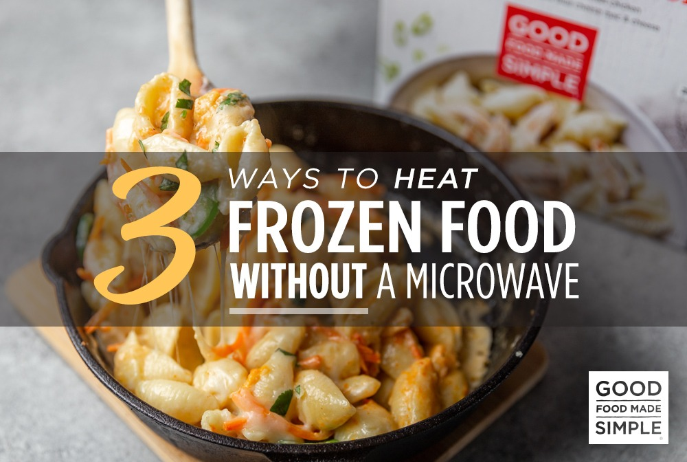 to heat frozen food without a microwave