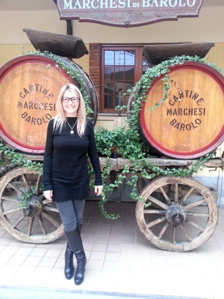 Valentina Abonna at her family's winery in Barolo