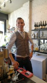 Our Mixologist for the evening, Michael Birdsey, who normally spends his evenings behind the bar at Bohmer's on Ossington.
