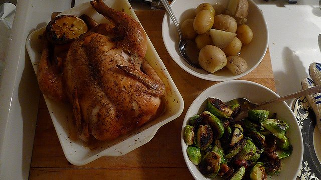 """""""Classic, unmucked-about-with roast chicken... and its pan juices"""" - Nigel Slater"""