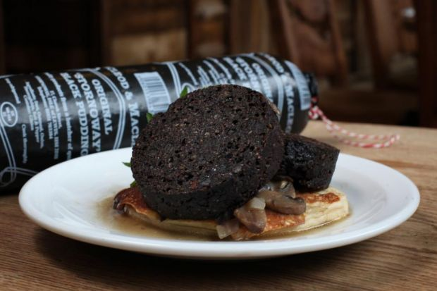 The one and only Stornaway Black Pudding, accept no imitations.