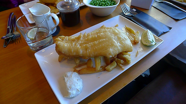 A slightly posher example of a Fish Supper, here served at The Boat House in South Queensferry.