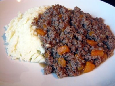 A weekly visitor to the Drummond family's dinner table, the classic Mince and Tatties.