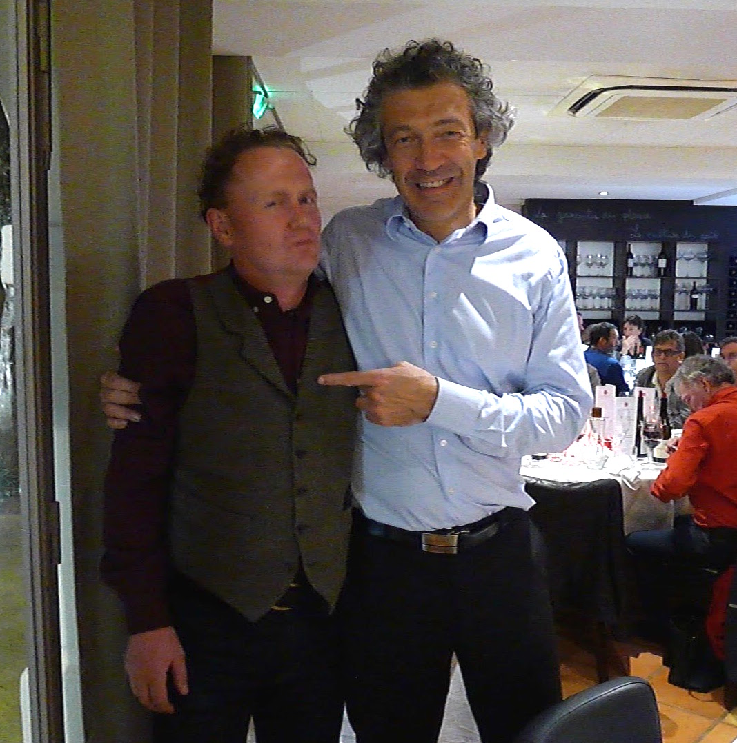 Good Food Revolution's Jamie Drummond with Gerard Bertand at Château l'Hospitalet earlier in the year.
