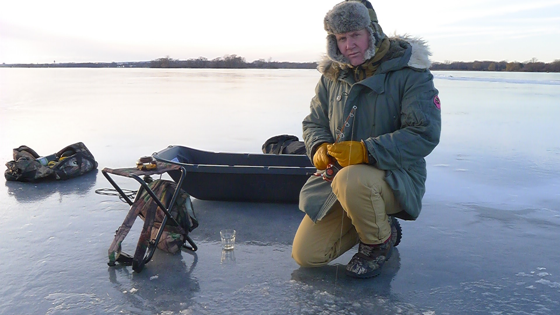 You intrepid GFR reporter tries his hand at a spot of ice fishing on the Bay of Quinte, apparently one of the very best places in Canada for Walleye. I have to admit that it was a little nerve-wracking. Who knew that one could ice fish on only three inches of ice? Thank goodness for the tumblers of whisky.
