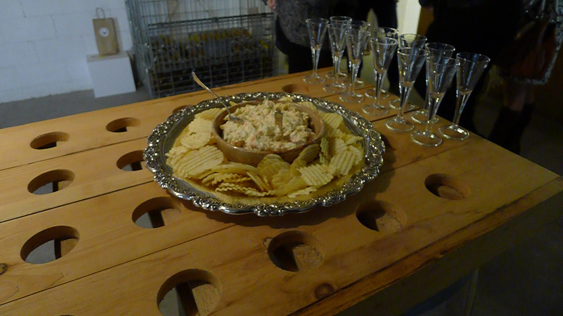 Smoked Trout Rillette, something that worked incredibly well with a glassful of bubbles from Hinterland's range.