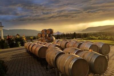 Barrels at sunset