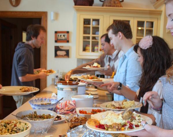Thanksgiving buffet, 2011