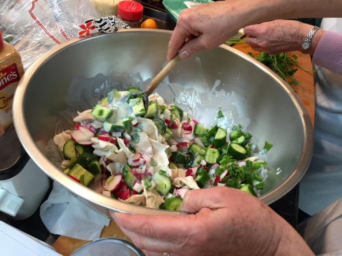 Fattoush: a salad without lettuce.