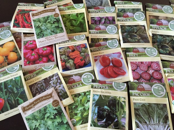 Vegetable Gardening seed packets