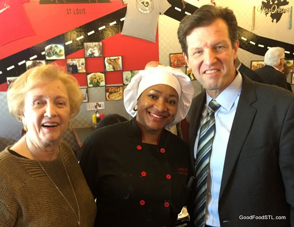 Cathy's Kitchen in Ferguson with Jean Carnahan, Russ Carnahan, and Cathy Jenkins