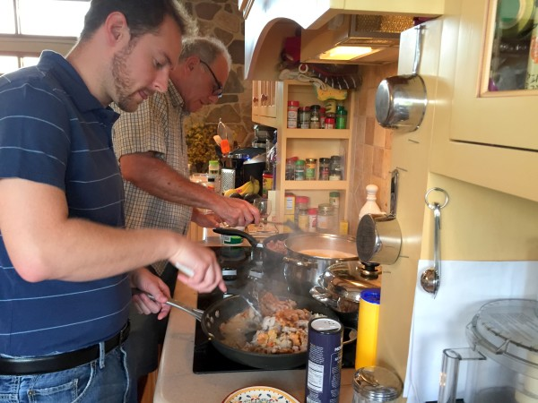Ken gilberg and lance cooking