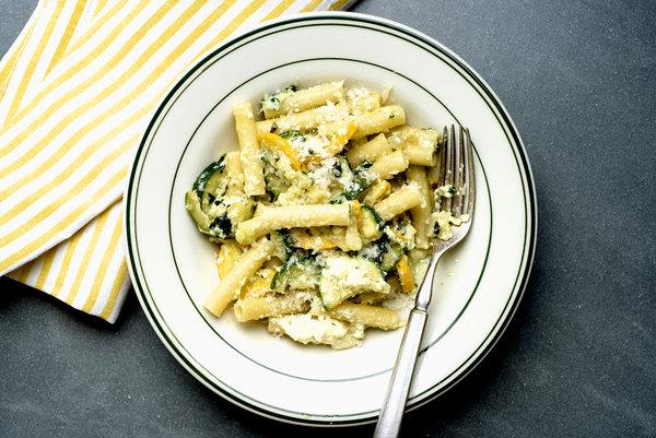 Zita and zucchini pasta