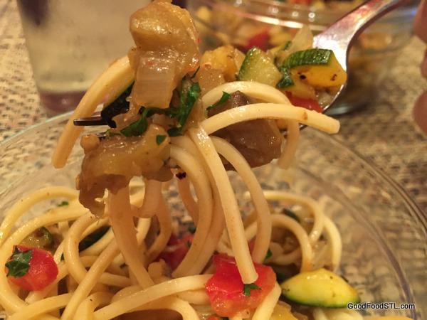 eggplant ratatouille pasta *