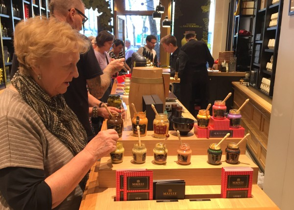 Tasting Maille mustard in Paris