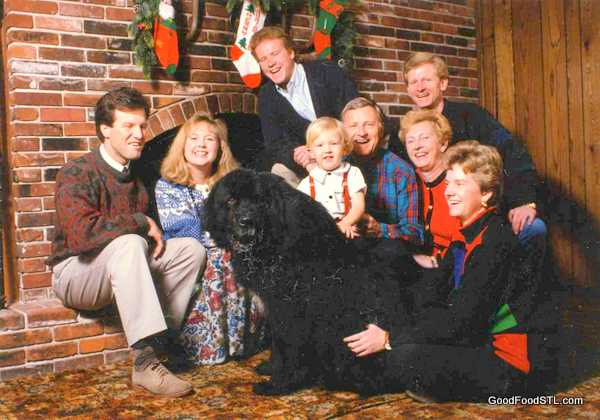 Christmas at the farm with the Carnahan family, 1992
