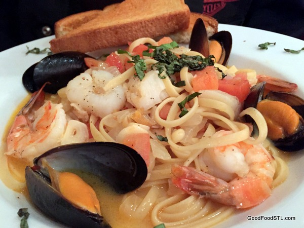 Purple Martin Seafood linguine