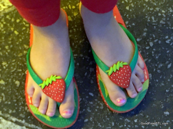 Strawberry sandal perfect for spring