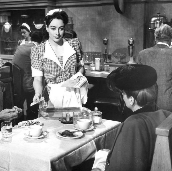 waitress and woman