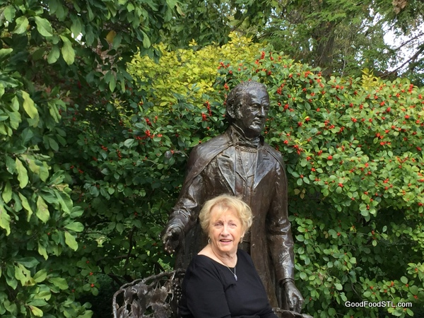 Henry Shaw and Jean Carnahan at Missouri Botanical Garden