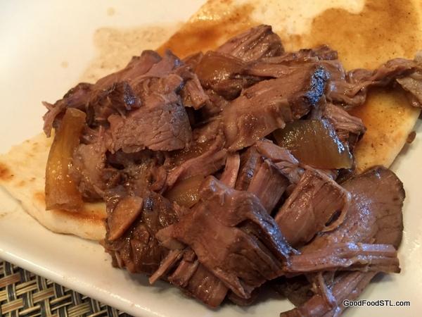 shredded beef plate