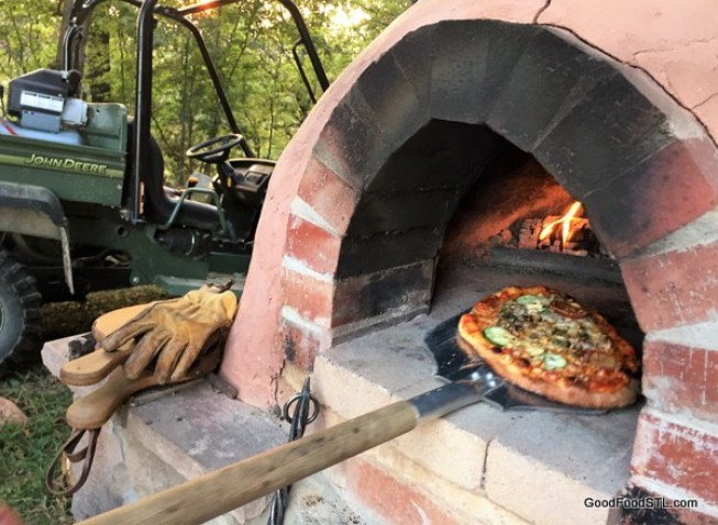 pizza in cob oven