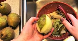 Peeling the pears