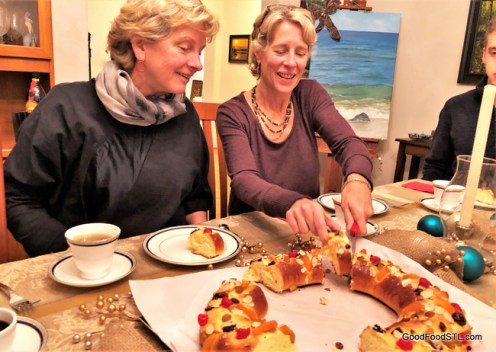 Robin and Tracy with King Cake
