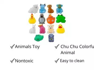 WISHKEY Plastic Bath Toy Set