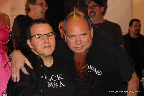Kerry & Pal Al Mancini at the Hard Rock Installation