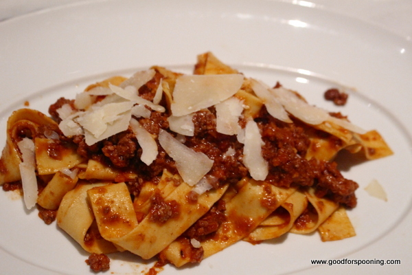 Pappardelle with Bolognese