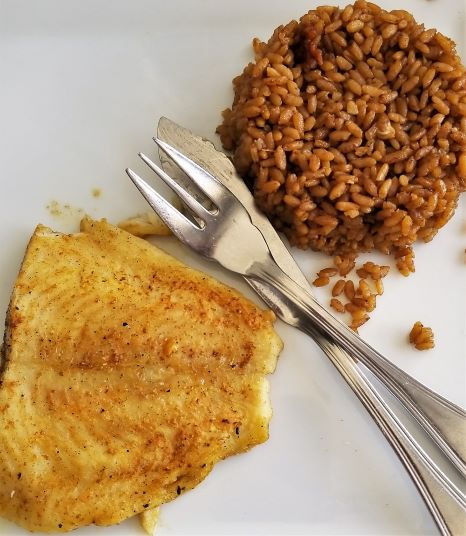 simple grilled grouper lunch