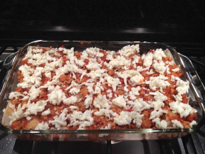 gluten free lasagna before