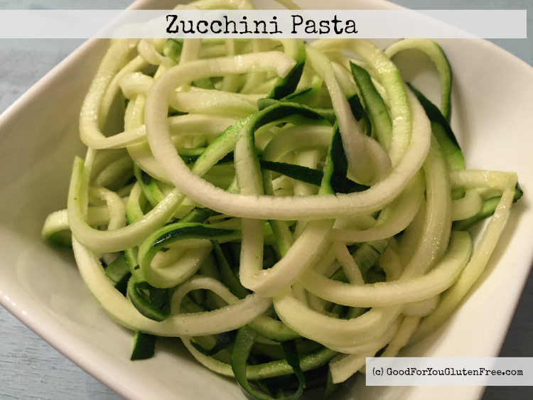 Sick of Gluten Free Noodles? Try Gluten Free Zucchini Noodles and the Veggetti