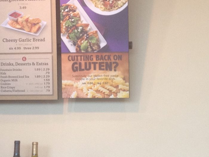 Gluten free at Noodles & Company