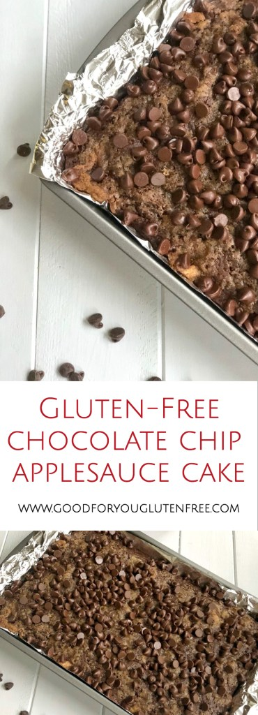 Gluten-Free Chocolate Chip Applesauce Cake - Good For You Gluten Free