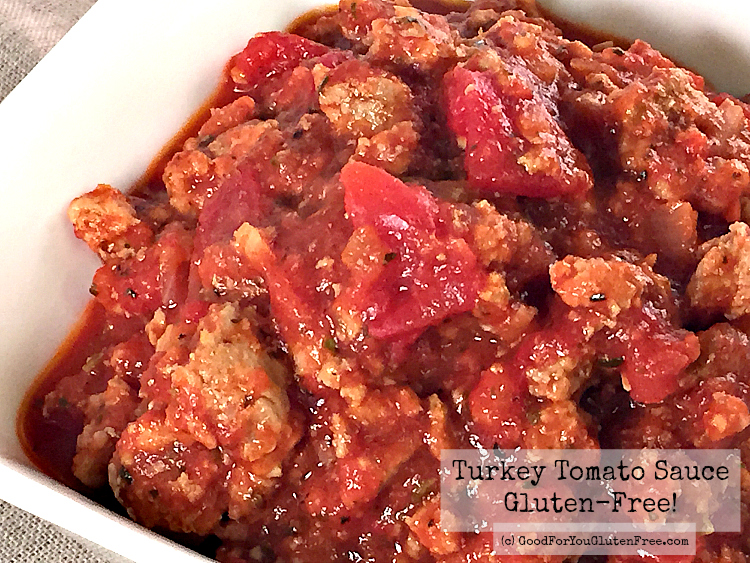 Simple Gluten-Free Turkey Meat Sauce Recipe