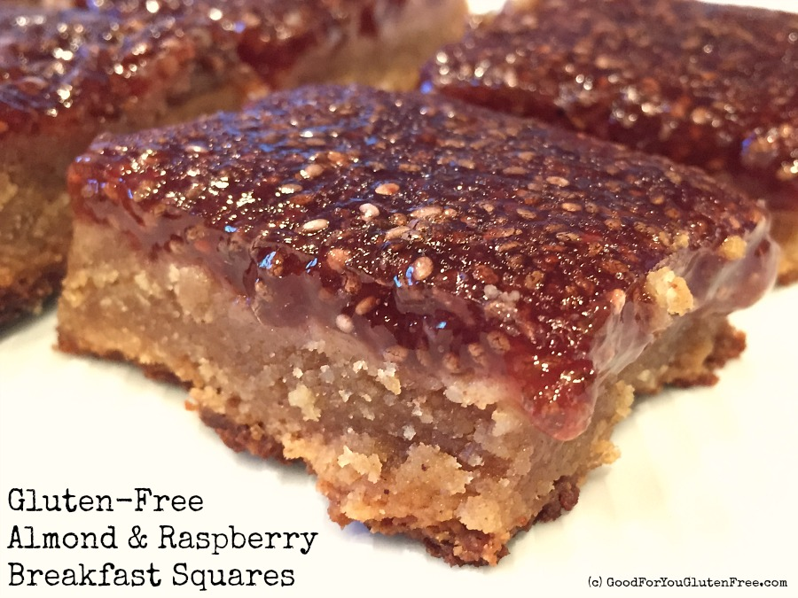 Gluten-Free Almond Raspberry Breakfast Squares Recipe – Vegan!