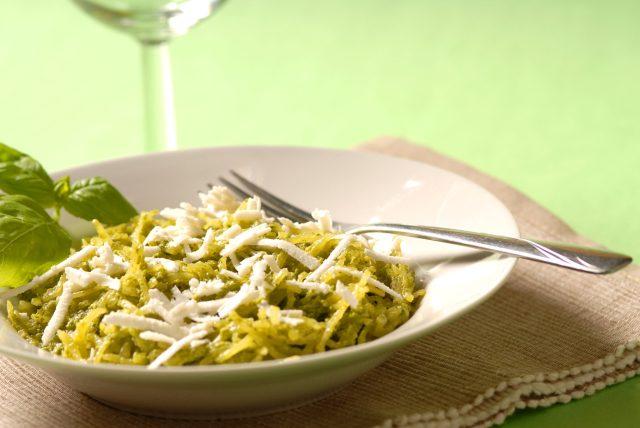 Spaghetti squash and pesto