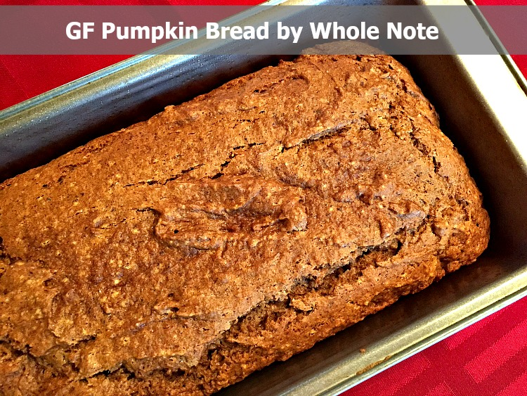 GF Pumpkin Bread Whole Note image 1