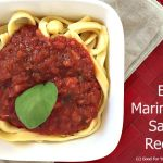 Easy Marinara Sauce Recipe
