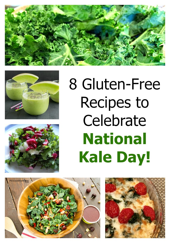 National Kale Day recipes collage