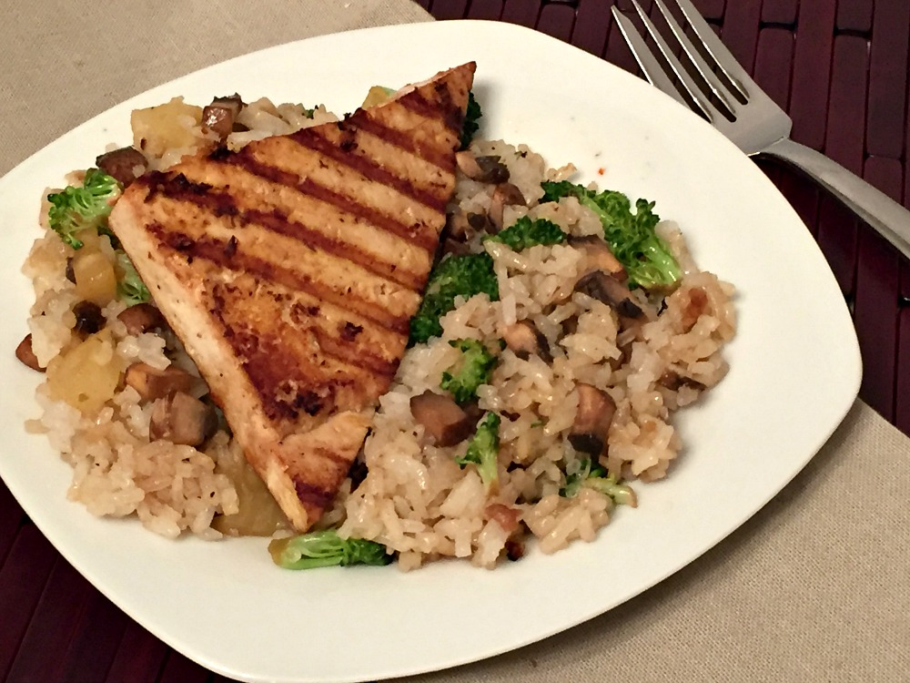Teriyaki tofu with rice