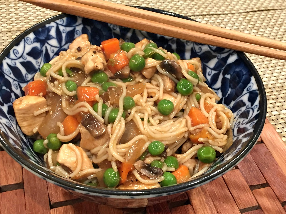 Gluten-Free Chicken Lo Mein using gluten-free ramen noodles
