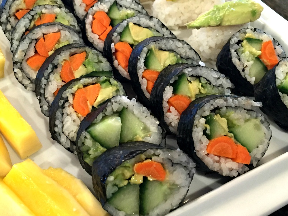 Vegetarian Sushi Rolls 1