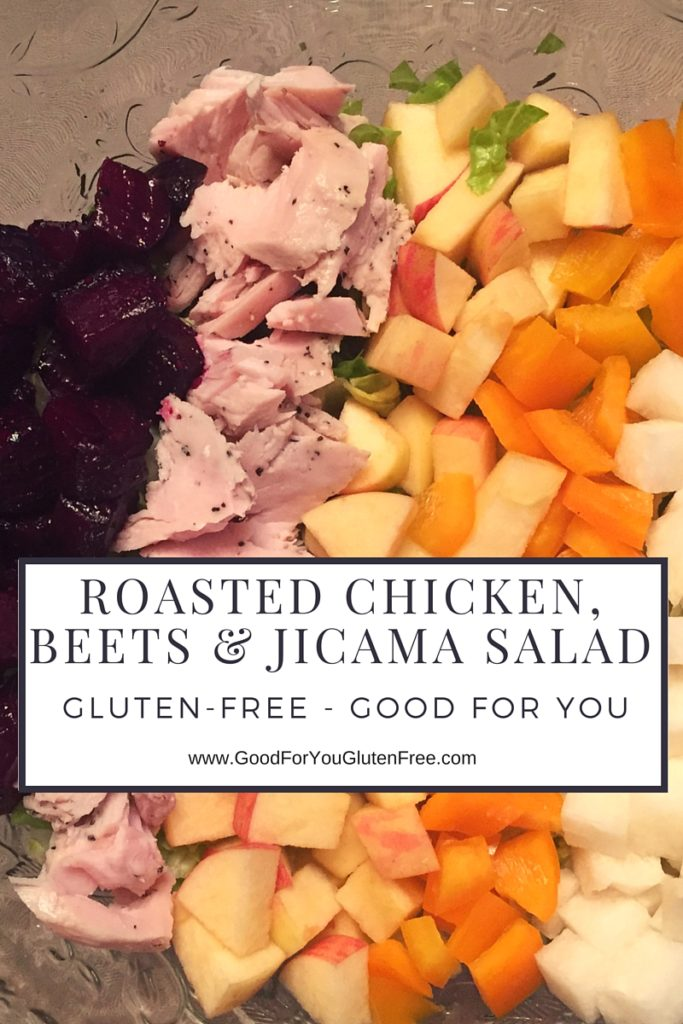 Roasted Beets, Chicken & Jicama Salad